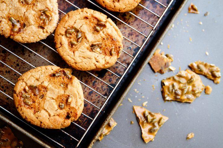 Peanut Butter Brittle Cookies