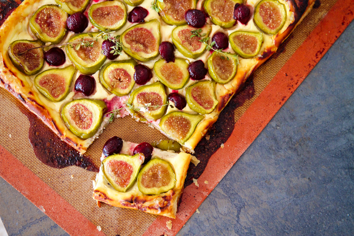 Fig & Cherry Goat Cheese Tart