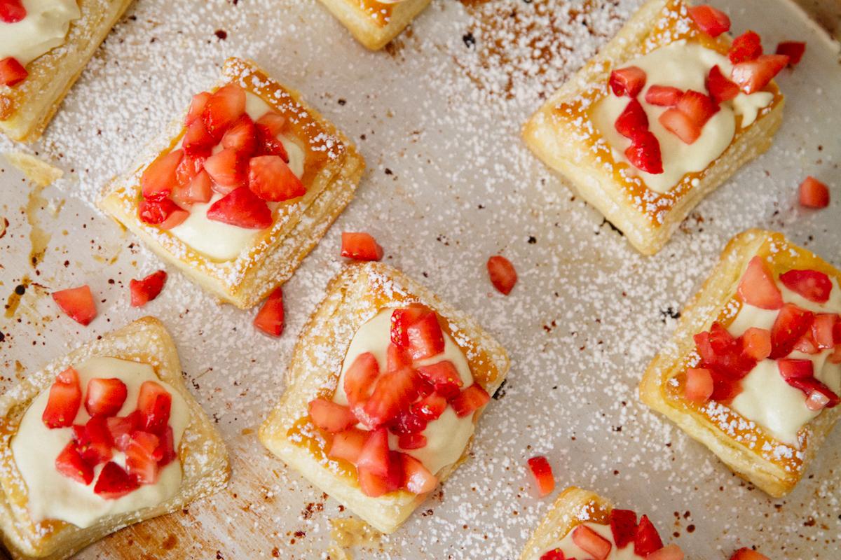 NYC Milkbar Banana Cream Pie and Strawberry Puffs