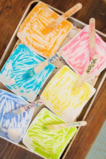 Rainbow sour cream sugar cookies