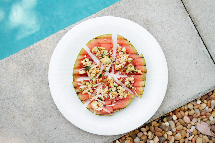 Grilled Watermelon with Coconut Chutney