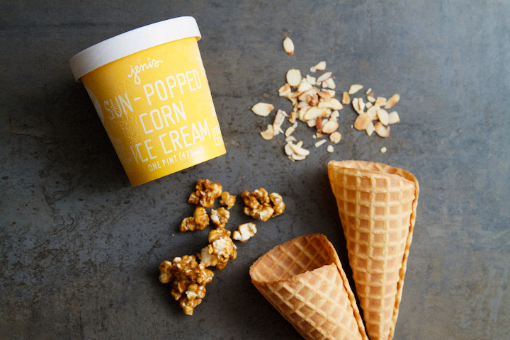 Caramel Corn Ice Cream Cones