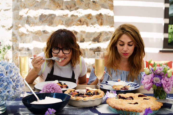 Nectarine Blueberry Pies with Amy Murphy