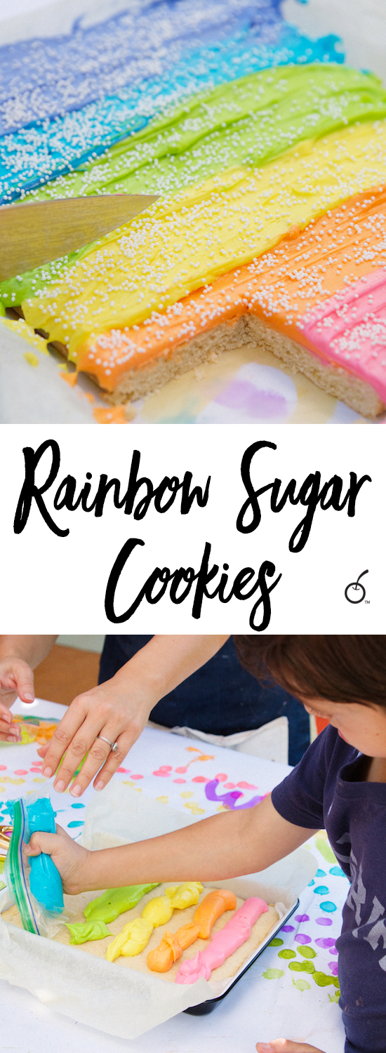 Rainbow sour cream sugar cookies