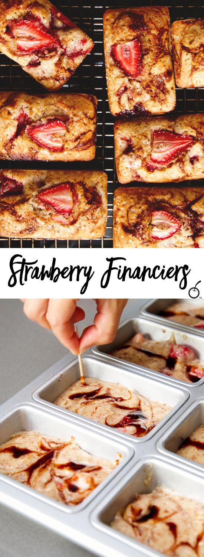 Strawberry Balsamic Financiers