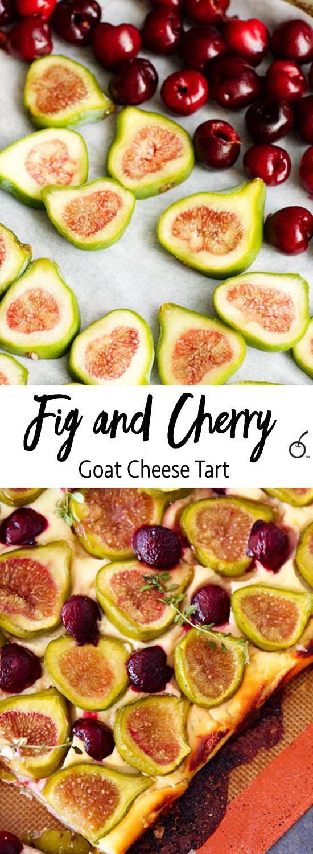 Fig & Cherry Goat Cheese Tart