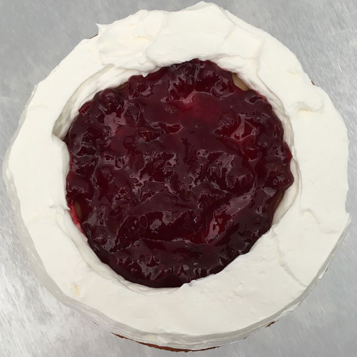 Lemon Lingonberry Cake
