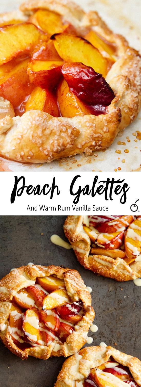 Peach Rum Galettes