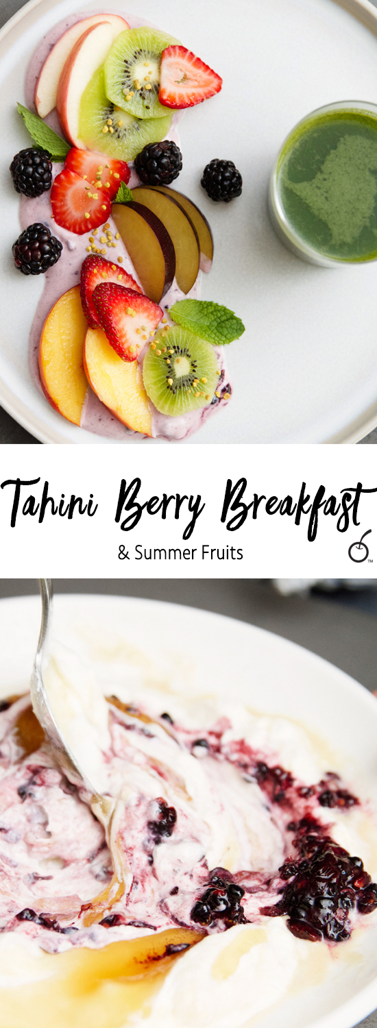 tahini berry breakfast