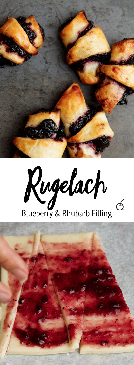 blueberry and rhubarb rugelach
