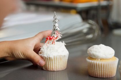 Easy Winter Wonderland Cupcakes