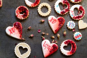 Valentine Signature Heart Cookies