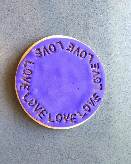 Purple Valentine's Day Cookies