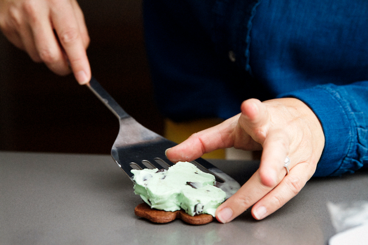 Saint Patrick's Day Ice Cream Cookie Sandwiches