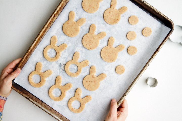 Bunny Linzer Cookies