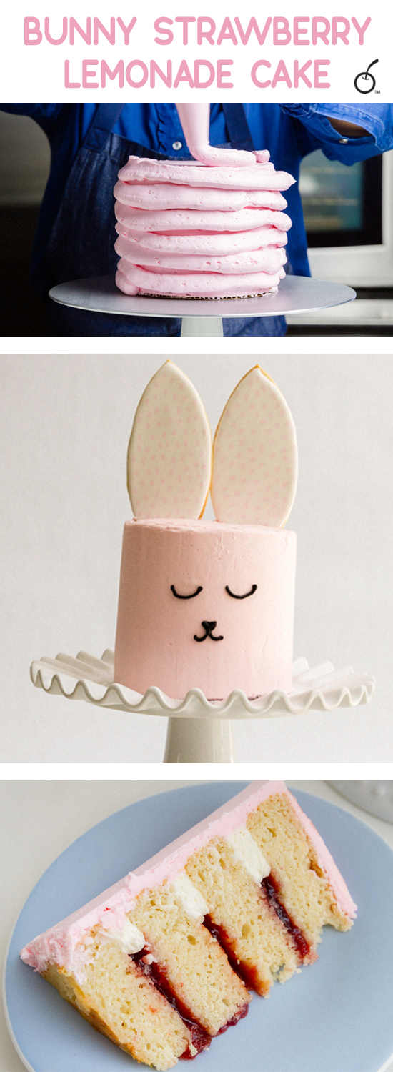 Strawberry Lemonade Bunny Cake