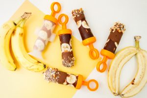 Banana Almond Fudgsicles