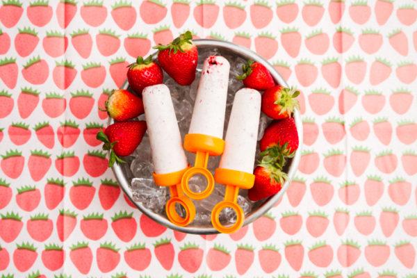 Strawberry Cake Popsicles