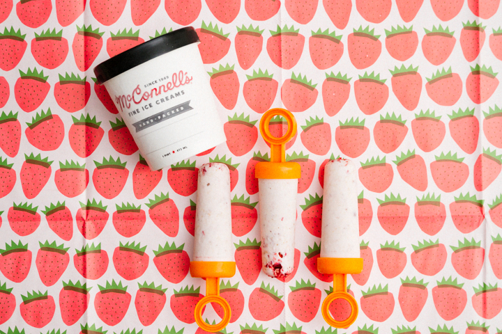 Ice Cream Cheat: Strawberry-n-Cake Popsicles