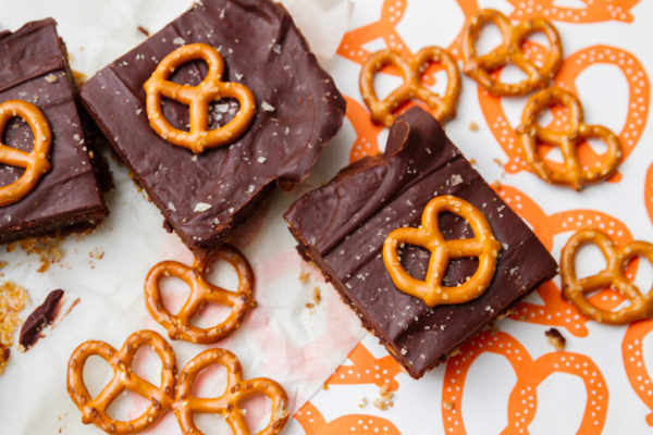 Salty Pretzel Brownies