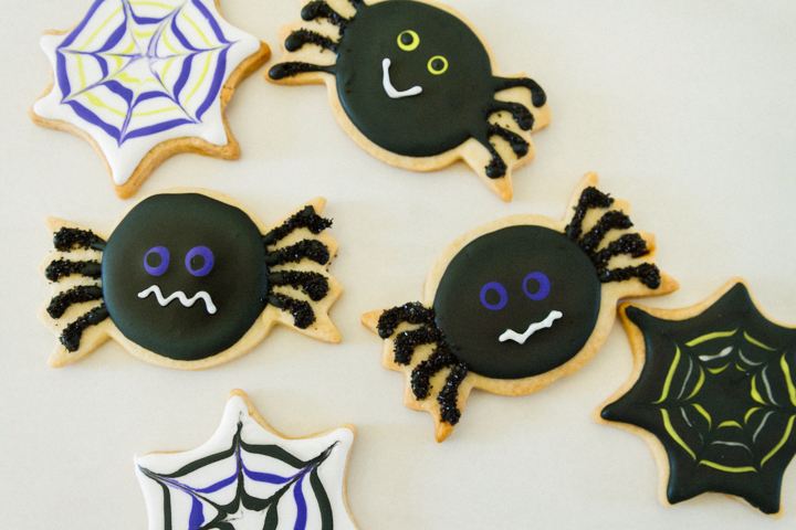 Spider + Cobweb Sugar Cookies