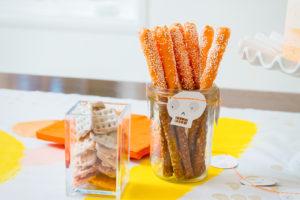 Ombre Candy Corn Pretzels