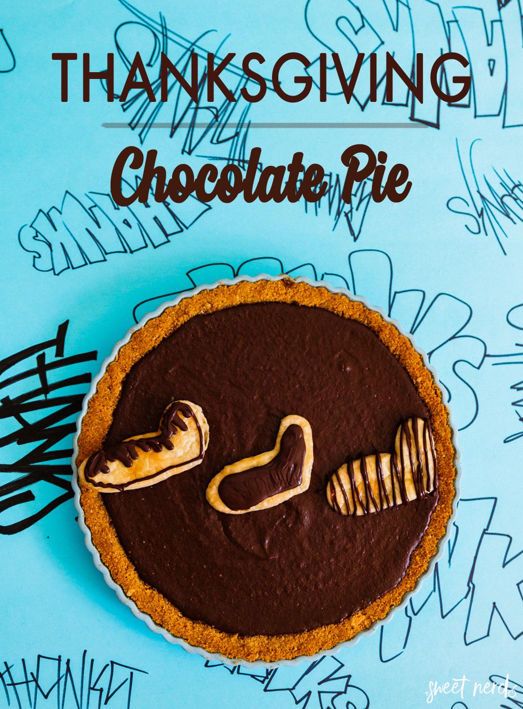 Thanksgiving Chocolate Pumpkin Pie