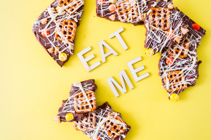 Eat Me - peanut butter chocolate bark