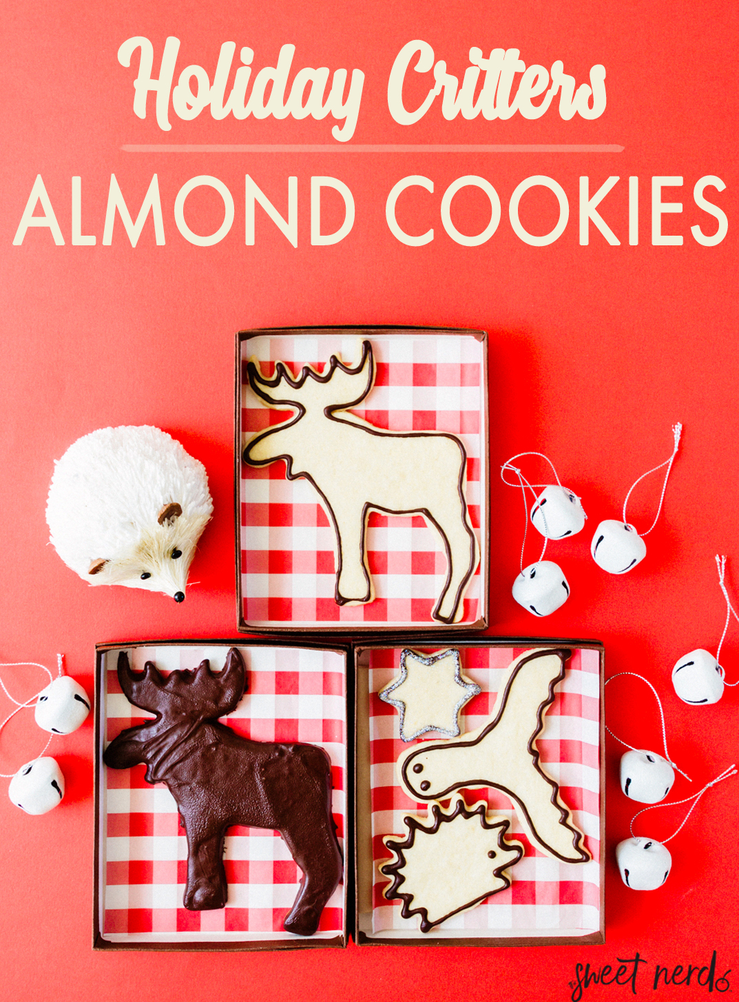 Holiday Critters Almond Cookies
