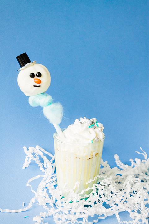 Snowman Donuts & Eggnog