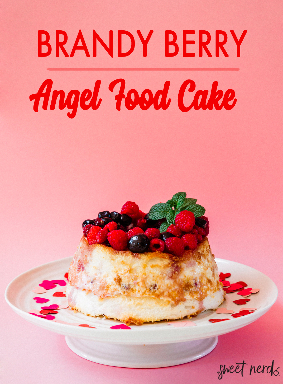 Brandy Berry Angel Food Cake
