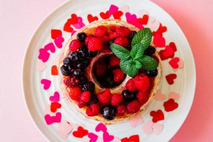 Brandy Berry Angel Food Cake