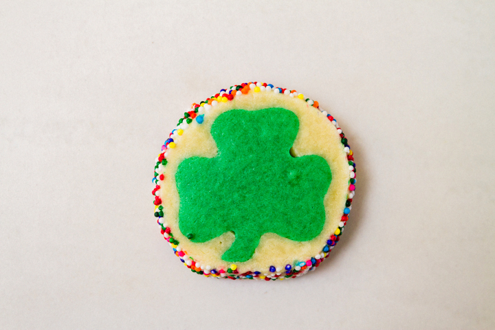 The perfect shamrock cookie - surprise!