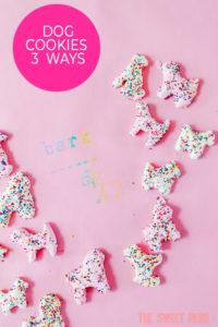 Dog Cookies Made 3 Ways