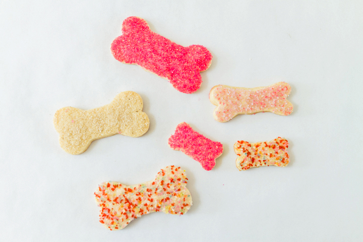 Bone cookies with sprinkles
