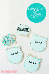 Pawsitive Cat Sugar Cookies