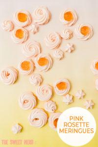 Pink Rosette Meringues