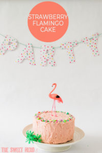 Strawberry Flamingo Cake