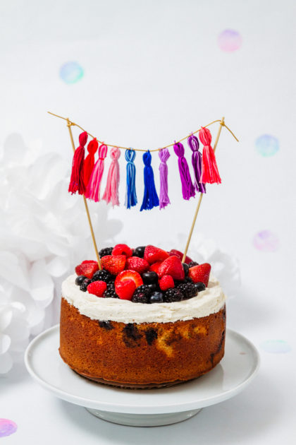 buttermilk summer berry cake