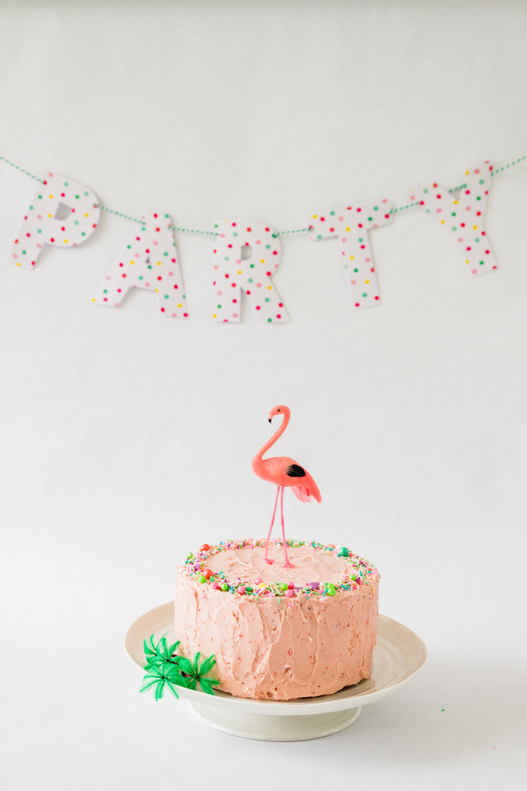 Pink Strawberry Flamingo Cake