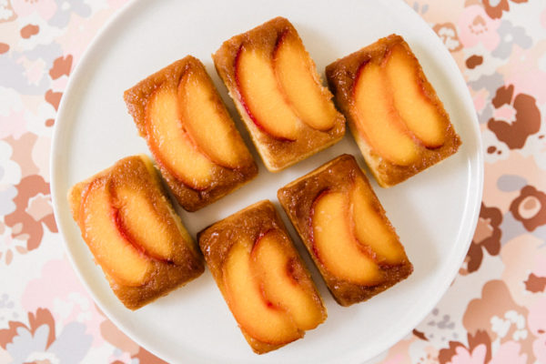 peach upside down cakelet
