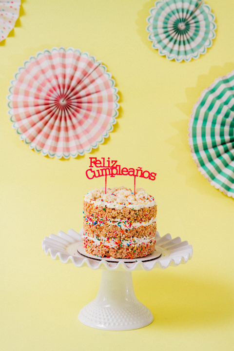 Rice Krispie Naked Cake