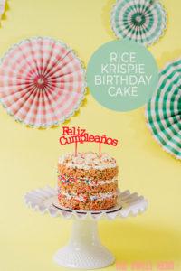 Astonishing Funfetti Rice Krispie Naked Cake Yum The Sweet Nerd Birthday Cards Printable Inklcafe Filternl