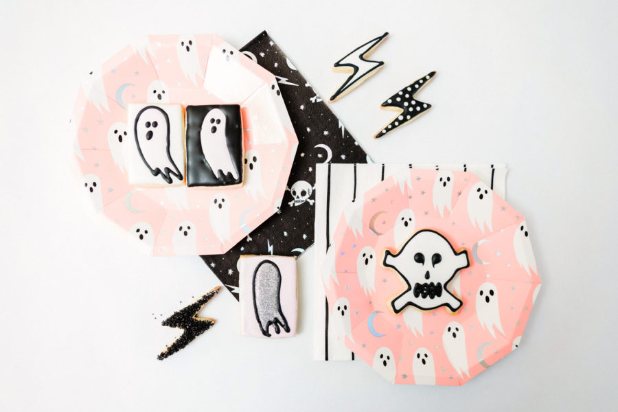 Pink Halloween Sugar Cookies