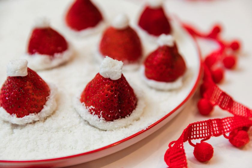 Santa Hat Strawberry